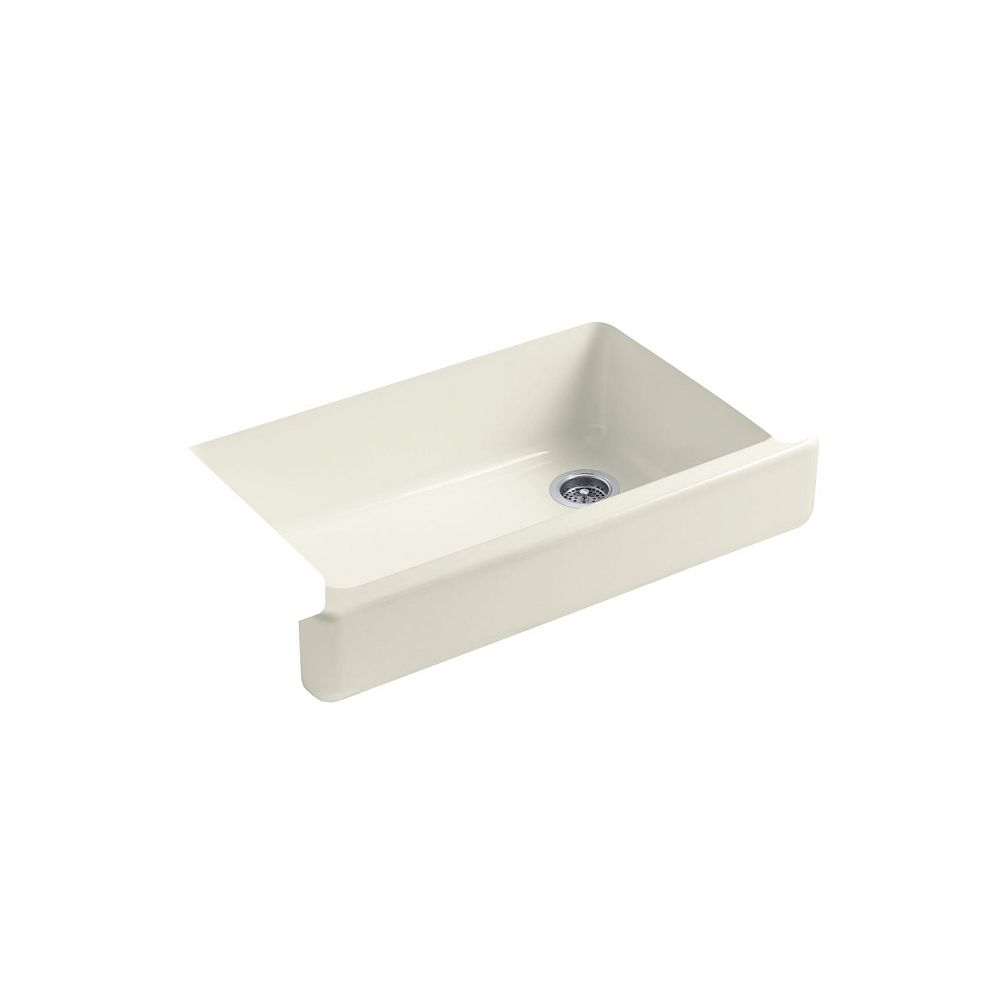 KOHLER Whitehaven(TM) Self-Trimming(TM) Apron Front Single Basin Sink With Short Apron
