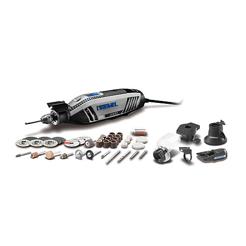 4300 Series 1.8 Amp Corded Variable Speed Rotary Tool Kit with Case (45 Accessories)