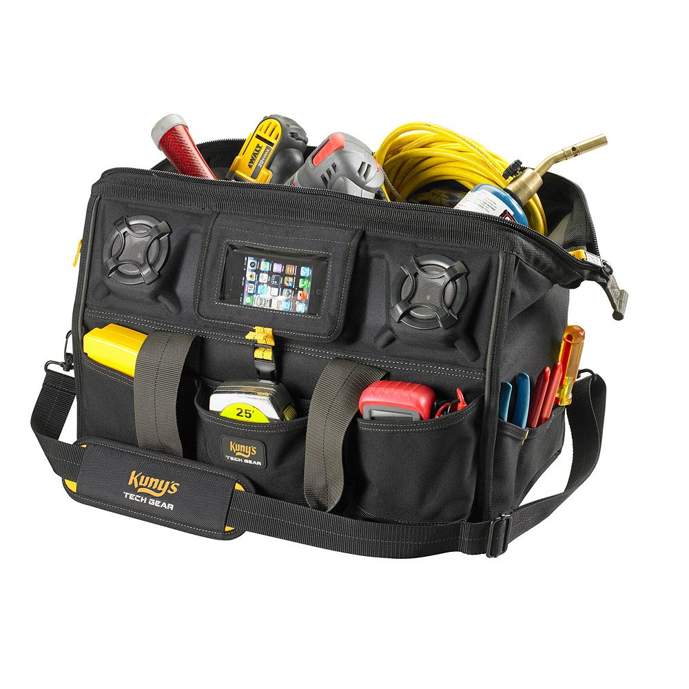 Kuny's Tech Gear 18-inch Megamouth Tool Bag with Stereo Speaker