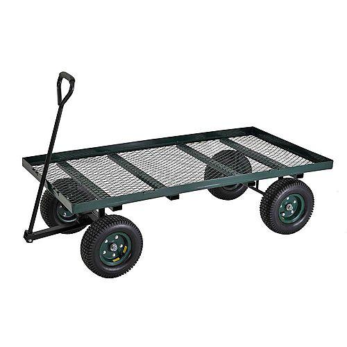 """Large chariot de pépinière plat robuste de couleur verte 60"""" L. x 36"""" l."""