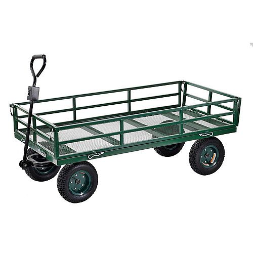 10 cu. ft. 31 in. W Industrial Strength Mesh Wire Utility Cart with Removable Sides