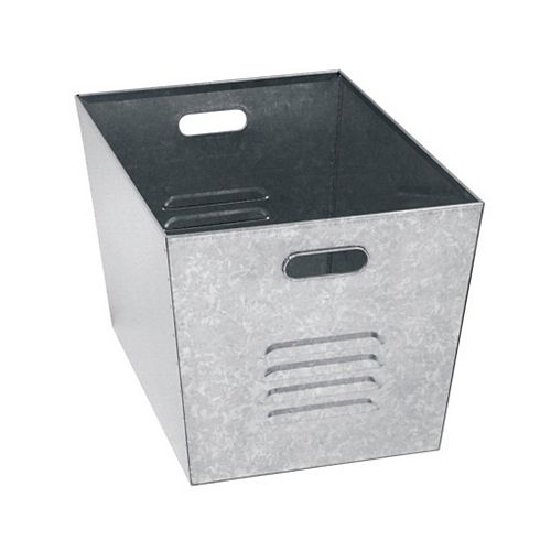 12 in. W x 11 in. D x 17 in. H Steel Galvanized Utility Bins, (Set of 6)