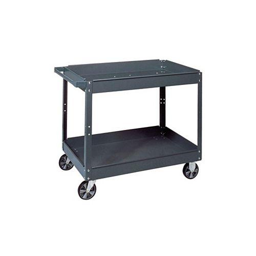 16 in. W x 30 in. L x 3.5 in. H Commercial Steel Service Cart