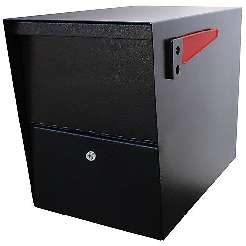 La boîte à colis Package Master de Mail Boss, en noir à fini
