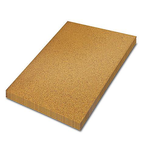 2 ft. x 3 ft. x 1/4-inch Cork Underlayment Sheet (30 sq. ft. / 5-Pack)