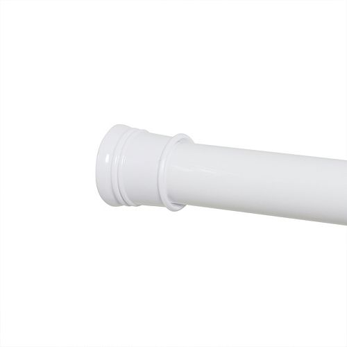 52-inch - 86-inch Tension Shower Rod in White