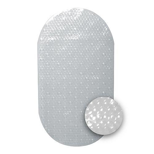 Tapis de bain alvéolé transparent