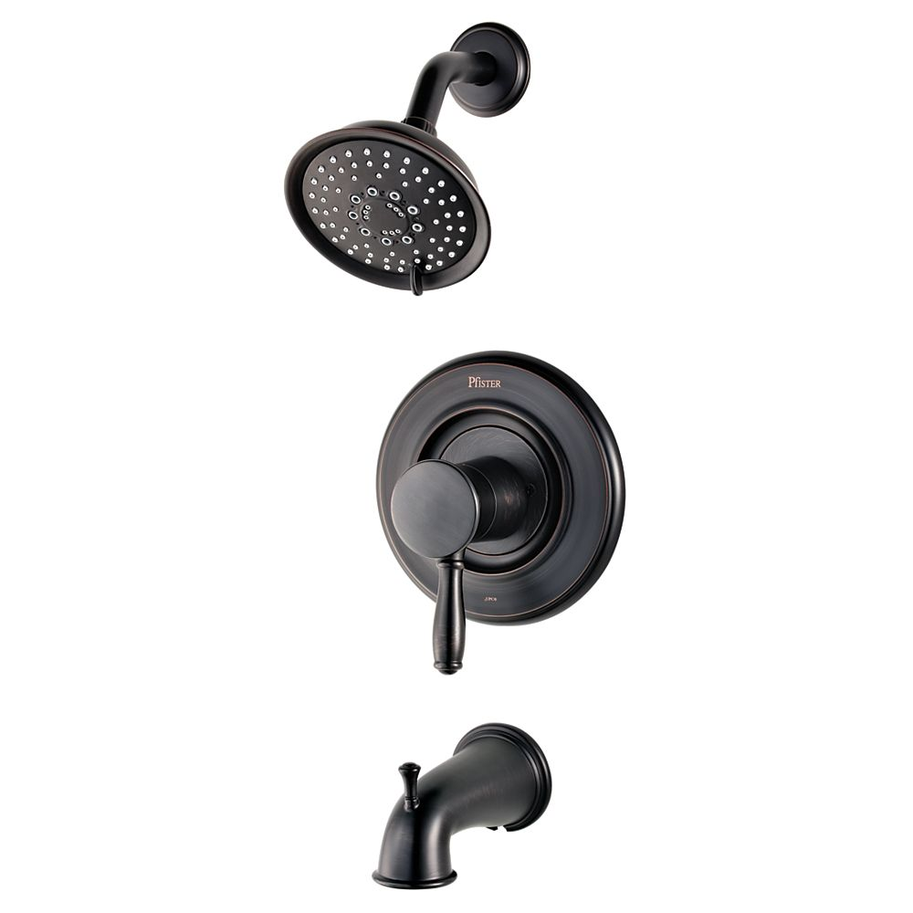 Pfister Universal 5-Spray Wall-Mount Shower Faucet in Bronze with Showerhead