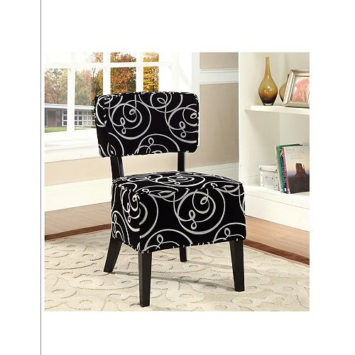 Rosedale Accent Chair-Black/White