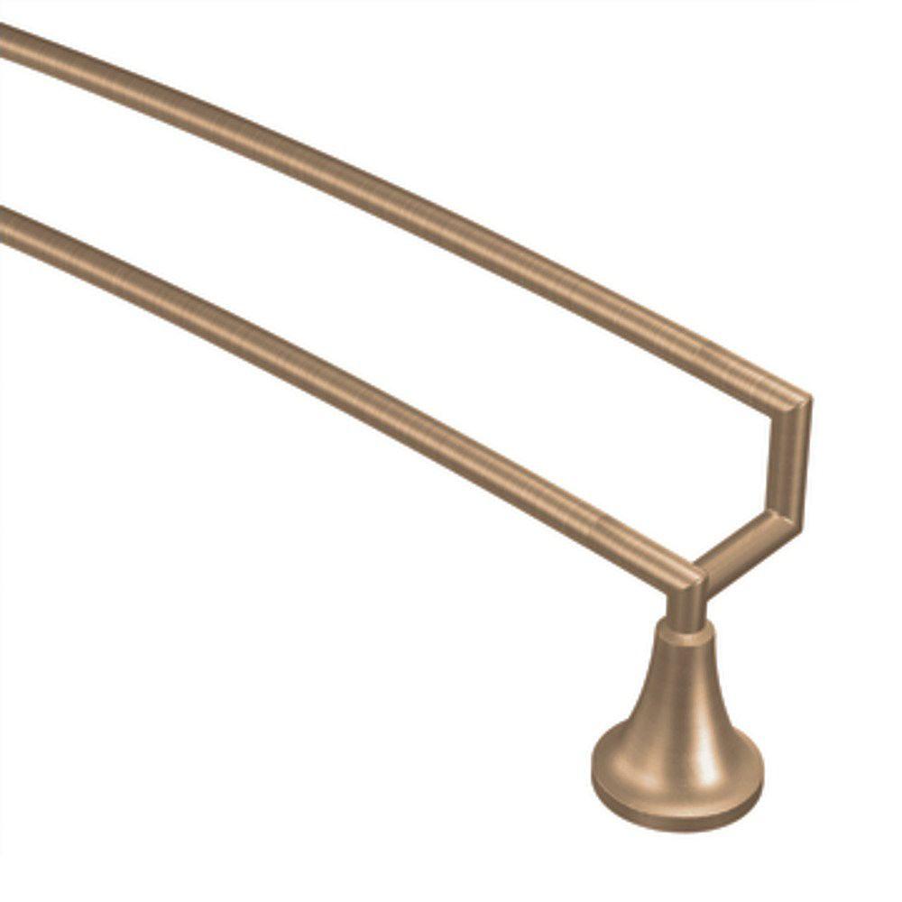 MOEN Double porte-serviettes 24 po bronze brossé