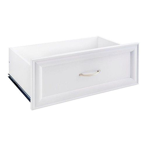 Selectives 23.5-inch x 10-inch Decorative Standard Drawer in White