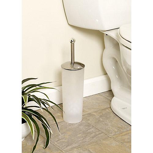 Brosse de toilette avec support - givrée