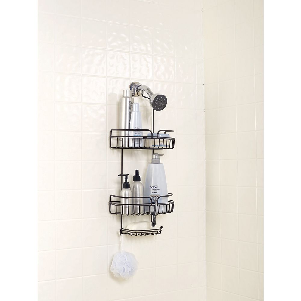 Zenith Products Heritage Bronze Over The Shower Caddy