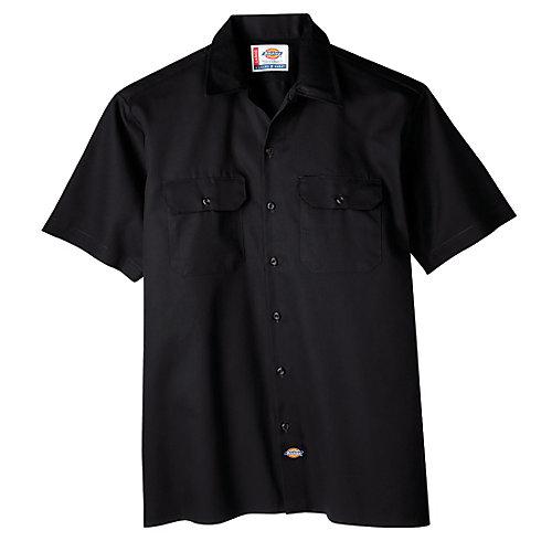 1574 Chemise de travail boutonnée à manches courtes- Moyen
