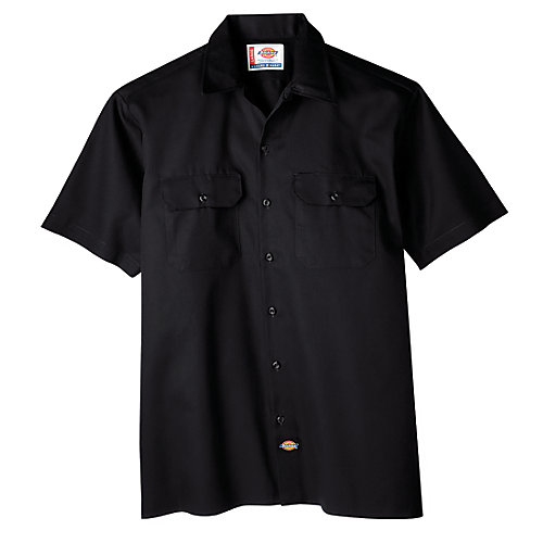 1574 Chemise de travail boutonnée à manches courtes- Grand