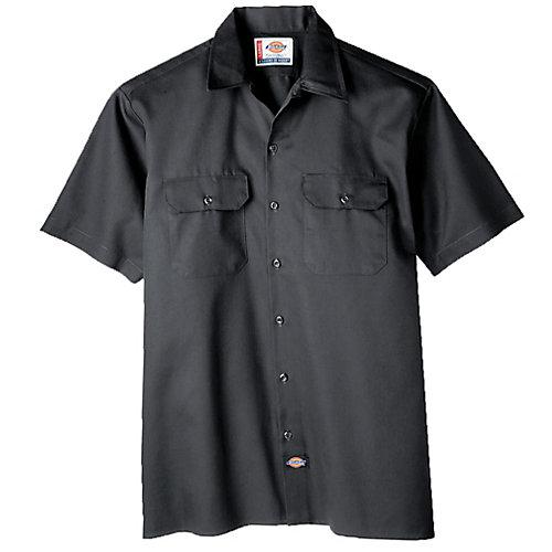 1574 Chemise de travail boutonnée à manches courtes- Très grand