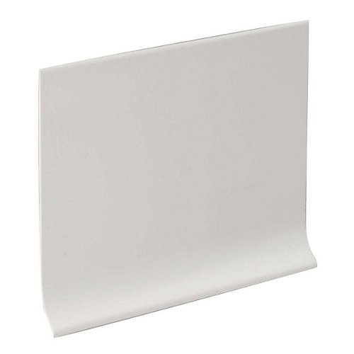 4-inch Vinyl Wall Cove Base - 120 Foot Roll - White