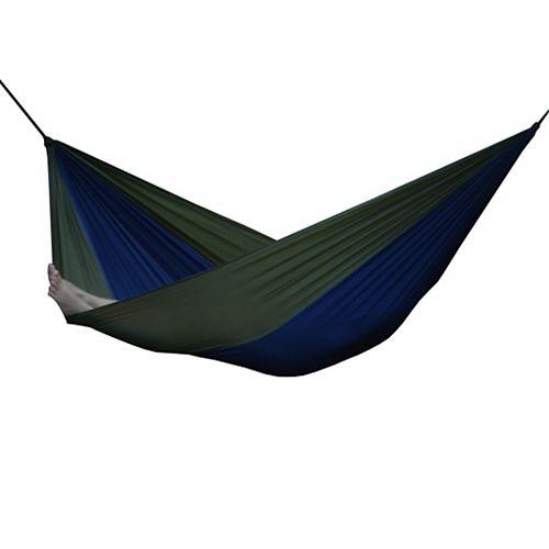 Parachute Nylon Single Hammock in Navy/Olive