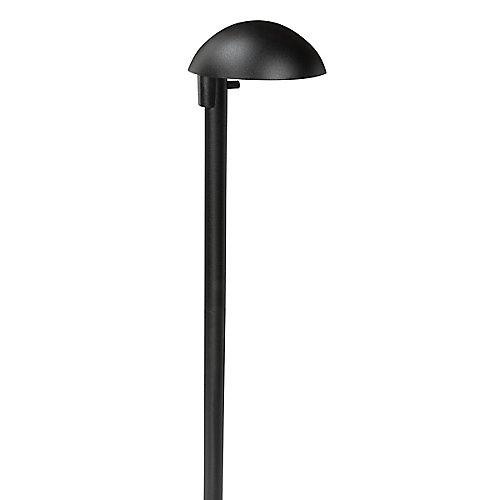 Lampe murale d'aluminium moulé à basse tension- Noire