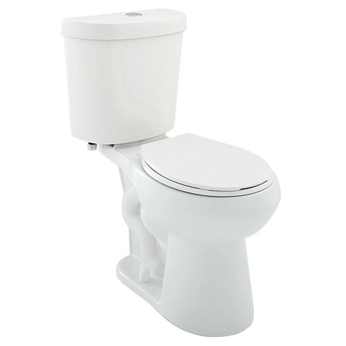 All-In-One 2-Piece Dual-Flush Round Bowl Toilet in White