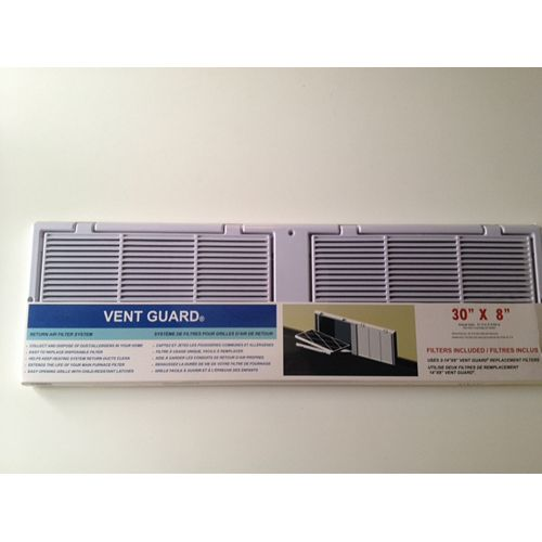 30 X 8 Return Air Grille With Filters