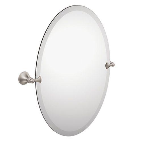 Brushed Nickel Glenshire Oval Tilting Mirror