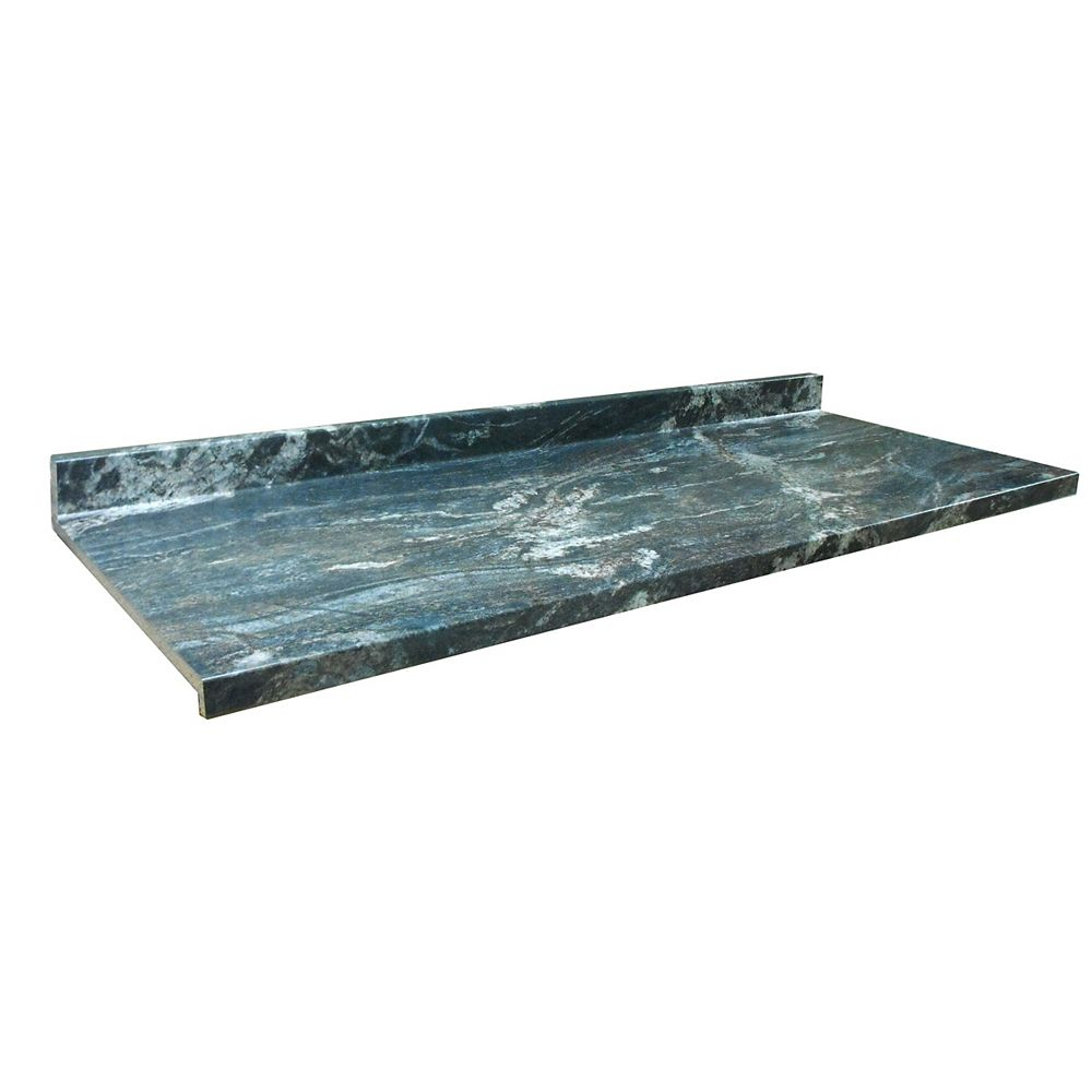 Belanger Laminates Inc 6357-FX46 Profile Ora 25 1/2-inch x 96-inch Kitchen Countertop in Black Storm