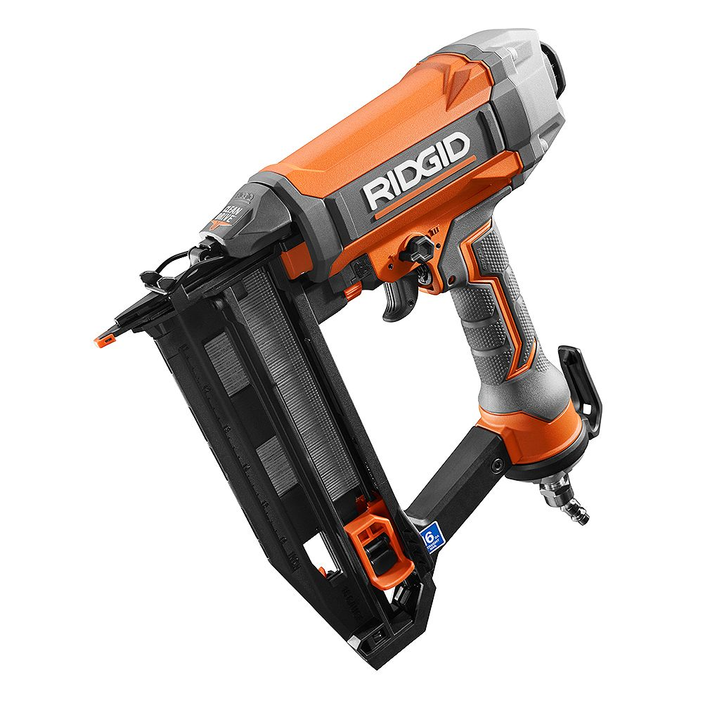 RIDGID 16-Gauge 2-1/2 -Inch Straight Finish Nailer with CLEAN DRIVE Technology