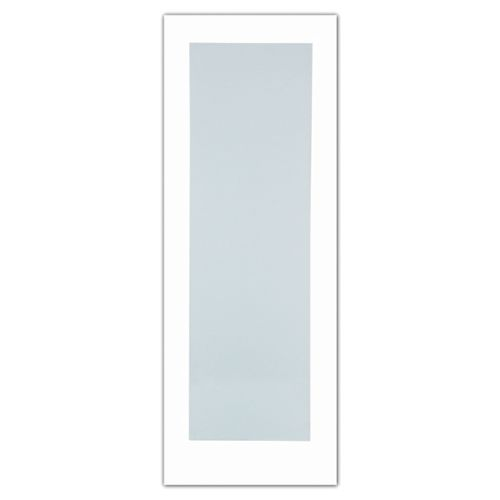 30-inch x 80-inch Primed 1-Lite French Door with White Laminated Tempered Glass