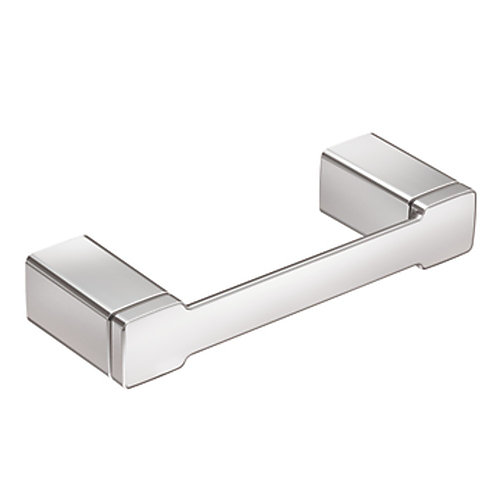 90-Degree Pivoting Double Post Toilet Paper Holder in Chrome