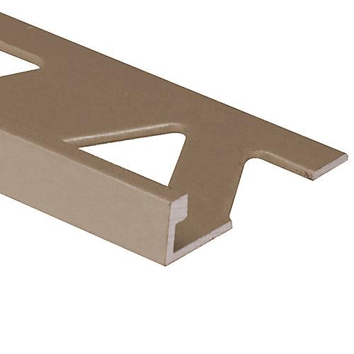 Aluminum Tile Edge 5/16 Inch (8MM) - 8Foot - Satin Titanium - (10-Pack)