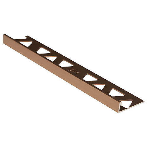 Aluminum Tile Edge 5/16 Inch(8MM) - 8Foot - Satin Dark Bronze - (10-Pack)