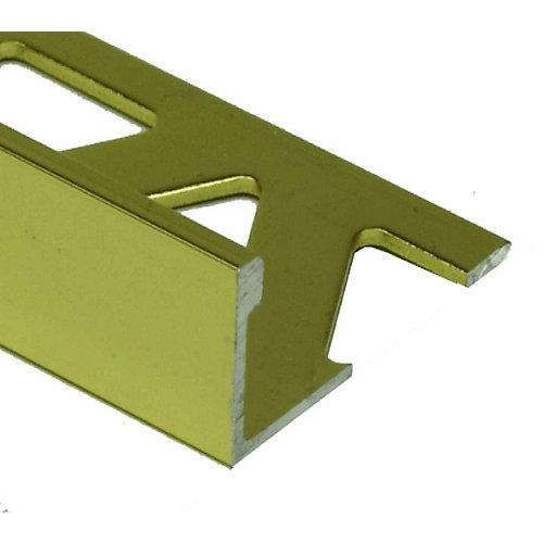 Aluminum Tile Edge 5/16 Inch(8MM) - 8 Foot - Satin Gold - (10-Pack)