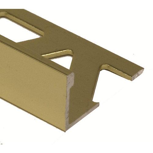 Aluminum Tile Edge 3/8 Inch(10MM) - 8 Foot - Satin Gold - (10-Pack)
