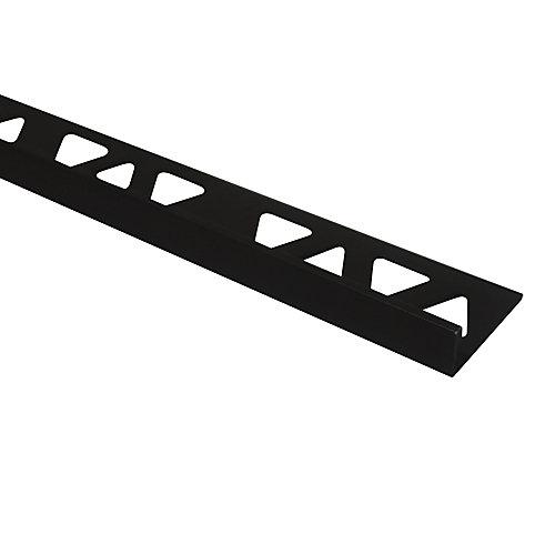 Aluminum Tile Edge 3/8 Inch(10MM) - 8 Foot - Satin Antique Bronze - (10-Pack)