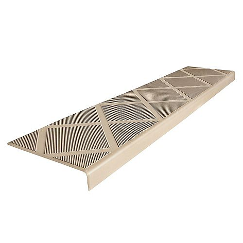 Composite Anti-Slip Stair Tread 48 inch Beige Step Cover