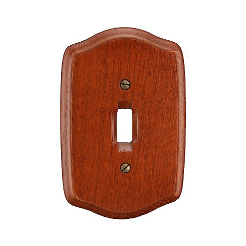 Old Country Switchplate - Cherry Wood Finished Wood