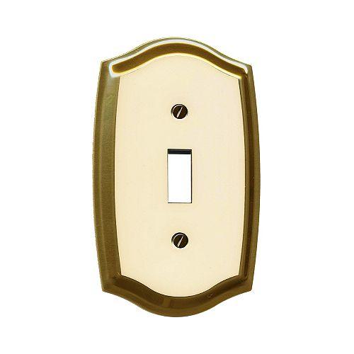 Brass Switchplate W/Ivory Overlay