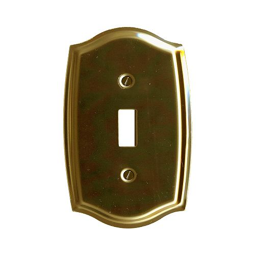 Brass Switchplate - Colonial Shaped