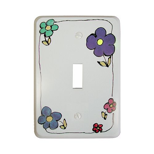 Kidz Art Switchplate - Flowers