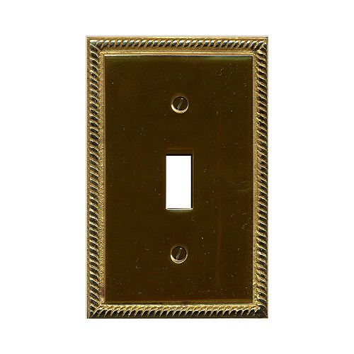 Georgian Brass Switchplate