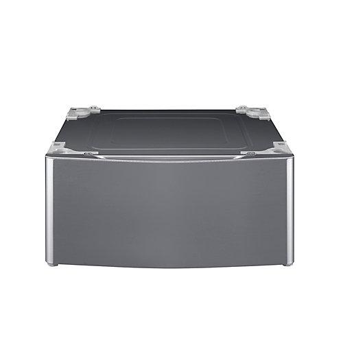 Socle à linge de 29 po avec tiroir de rangement en acier au graphite
