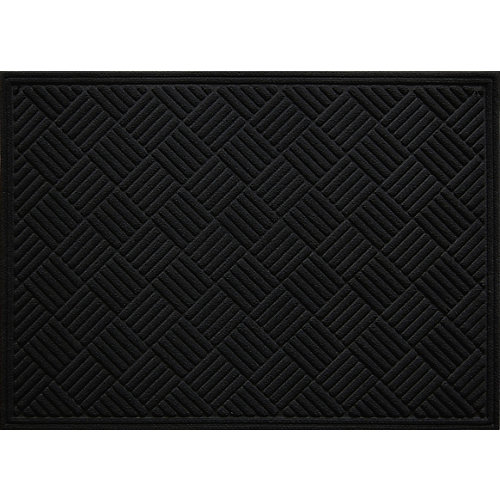 Paillasson d'intérieur/extérieur Contours, 3 pi x 4 pi, rectangulaire, noir