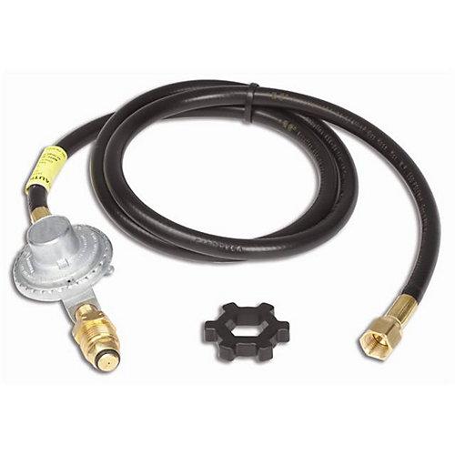 Système de tuyau et régulateur (propane) pour les brûleurs sur pied  - 3,65 m