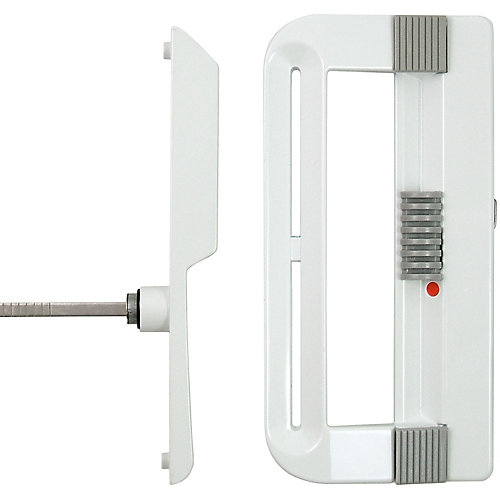 White Keyed Patio Door Handle Set