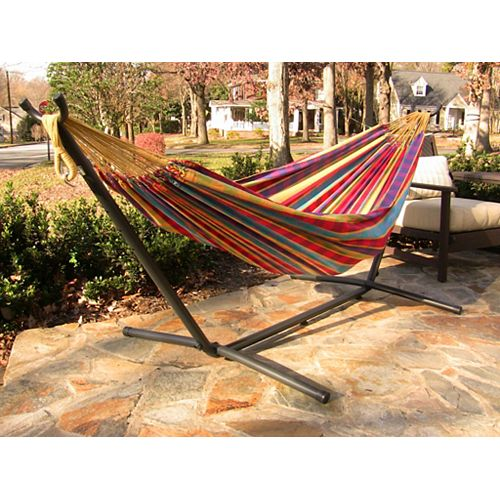8 ft. Combo Steel Stand with Double Hammock