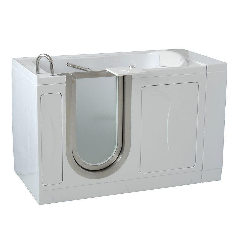 Ella Royal 4 Feet 4-Inch Walk-In Bathtub in White with Swivel Tray