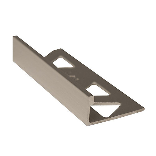 Aluminum Tile Edge 1/2 Inch(12MM) - 8 Foot - Satin Clear - (10-Pack)