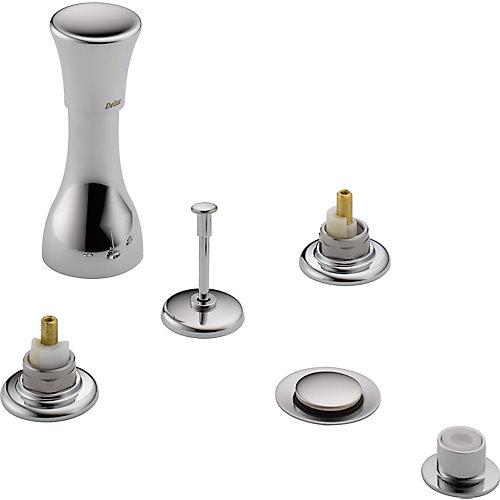 Classic 3-Handle Bidet Faucet in Chrome