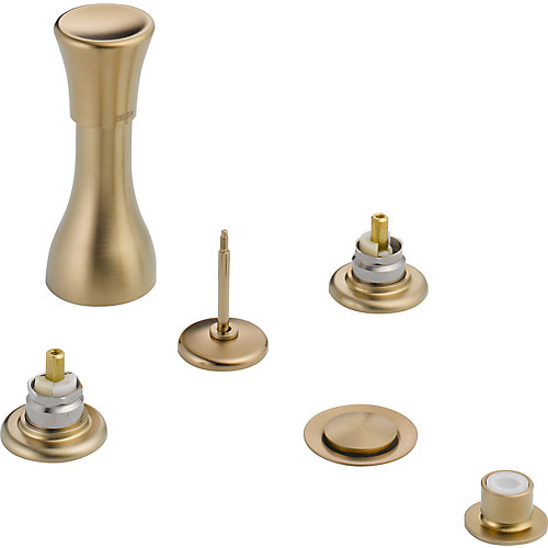 Classic 3-Handle Bidet Faucet in Champagne Bronze Finish